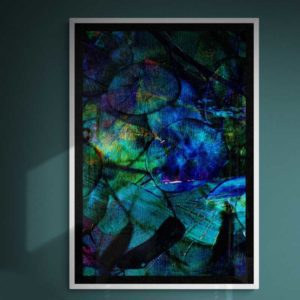 Study in Blues Abstract Designs