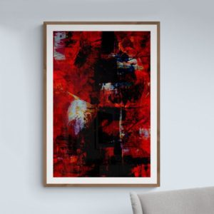 Blood Red Abstract Designs