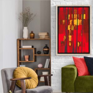 Red and Yellow Abstract Abstract Designs