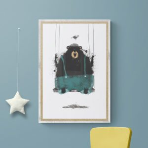 Bear on Swing Kids of All Ages