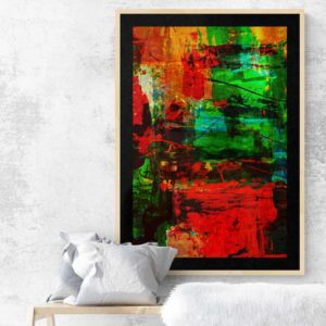 Abstract in Red and Green Abstract Designs