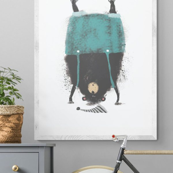 Bear Standing on Head Kids of All Ages
