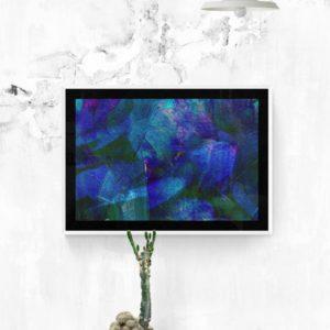 Blue Petals Abstract Designs