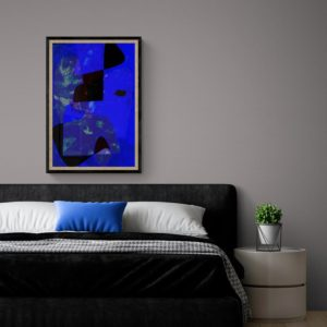 Adoration of Blues Abstract Designs