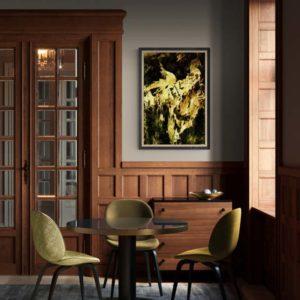 Golden Phoenix Abstract Designs