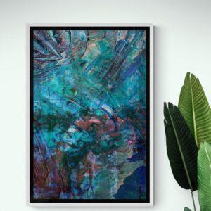 Blue Lightning Abstract Designs