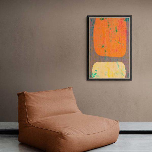 Minimalist in Orange Abstract Designs