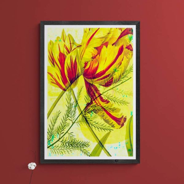 Yellow Tulips Floral