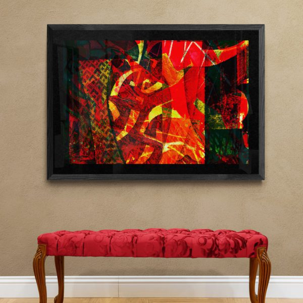 Red Vase Abstract Designs